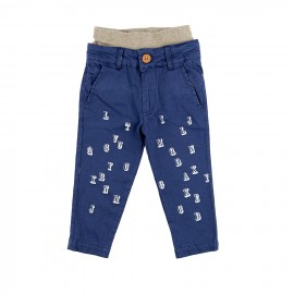 Alphabet trousers in cotton